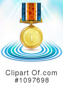 Royalty-Free (RF) Medal Clipart Illustration #1097698