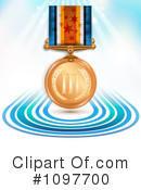 Royalty-Free (RF) Medal Clipart Illustration #1097700