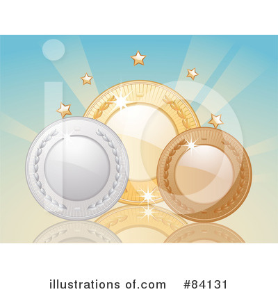 Royalty-Free (RF) Medals Clipart Illustration by Elaine Barker - Stock Sample #84131