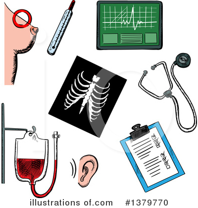 Ecg Clipart #1379770 by Vector Tradition SM