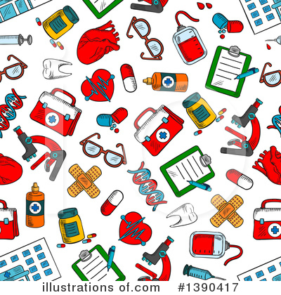 First Aid Kit Clipart #1390417 by Vector Tradition SM