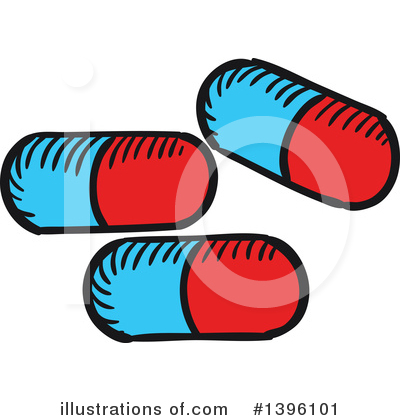 Pills Clipart #1396101 by Vector Tradition SM