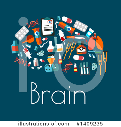 Brain Clipart #1409235 by Vector Tradition SM