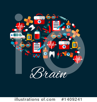 Brain Clipart #1409241 by Vector Tradition SM