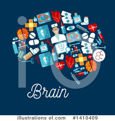 Brain Clipart #1410409 by Vector Tradition SM