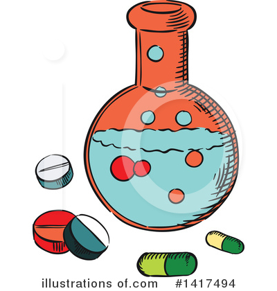 Pills Clipart #1417494 by Vector Tradition SM