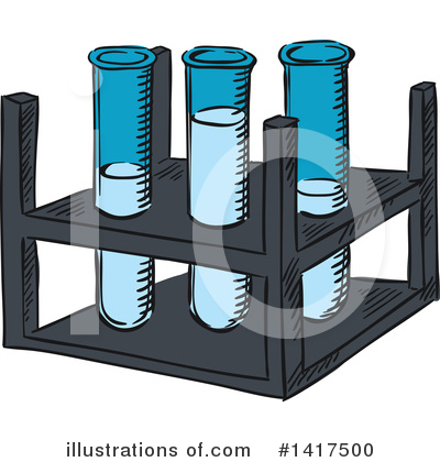 Test Tube Clipart #1417500 by Vector Tradition SM
