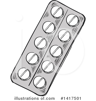 Pills Clipart #1417501 by Vector Tradition SM