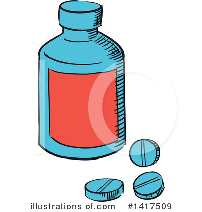 Pills Clipart #1417509 by Vector Tradition SM