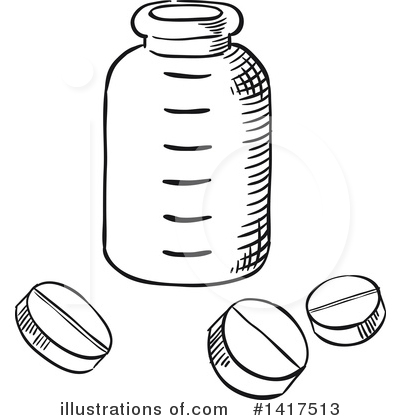 Pills Clipart #1417513 by Vector Tradition SM