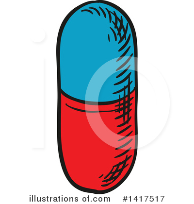 Pills Clipart #1417517 by Vector Tradition SM