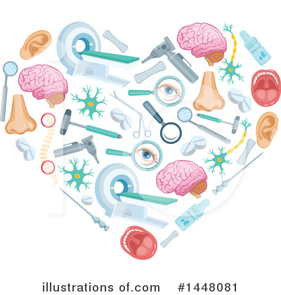 Brain Clipart #1448081 by Vector Tradition SM