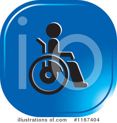 Wheelchair Clipart #1167404 by Lal Perera