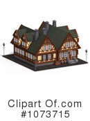 Royalty-Free (RF) Medieval Architecture Clipart Illustration #1073715