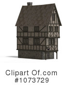 Royalty-Free (RF) Medieval Architecture Clipart Illustration #1073729
