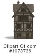 Royalty-Free (RF) Medieval Architecture Clipart Illustration #1073736