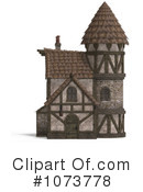 Royalty-Free (RF) Medieval Architecture Clipart Illustration #1073778