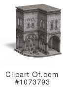 Royalty-Free (RF) Medieval Architecture Clipart Illustration #1073793