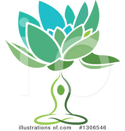 Meditating Clipart #1306546 by Lal Perera