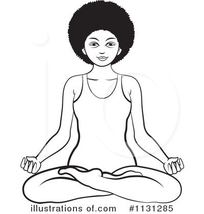 Meditating Clipart #1131285 by Lal Perera