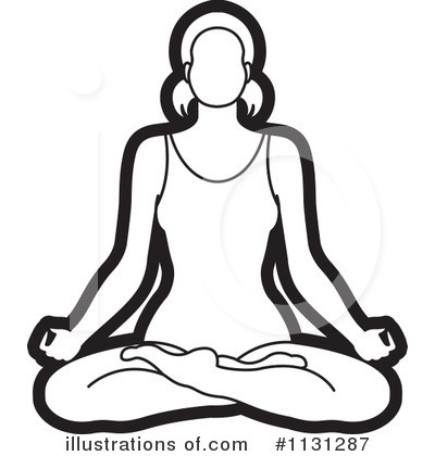 Meditating Clipart #1131287 by Lal Perera