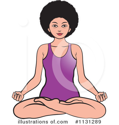 Meditating Clipart #1131289 by Lal Perera