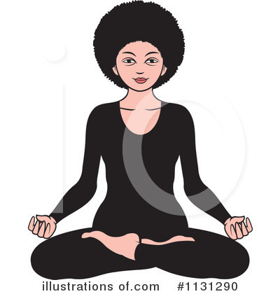 Meditating Clipart #1131290 by Lal Perera