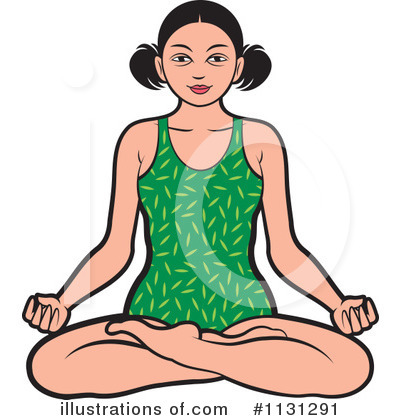 Meditating Clipart #1131291 by Lal Perera