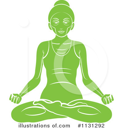Meditating Clipart #1131292 by Lal Perera