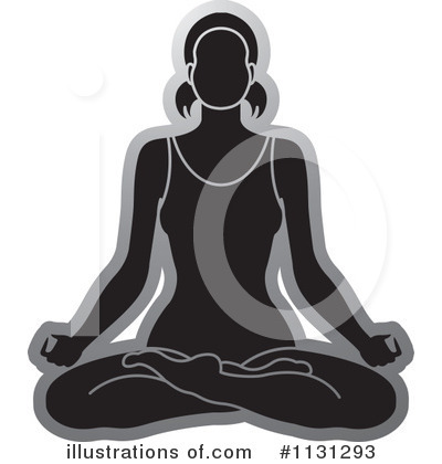 Meditating Clipart #1131293 by Lal Perera