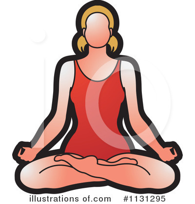 Meditating Clipart #1131295 by Lal Perera