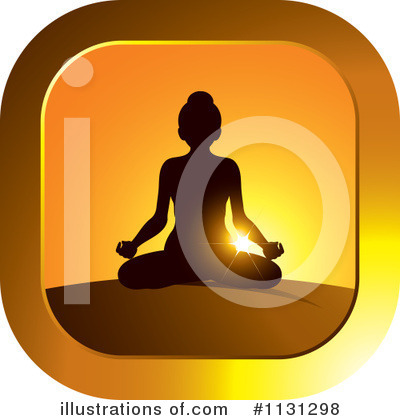 Meditating Clipart #1131298 by Lal Perera