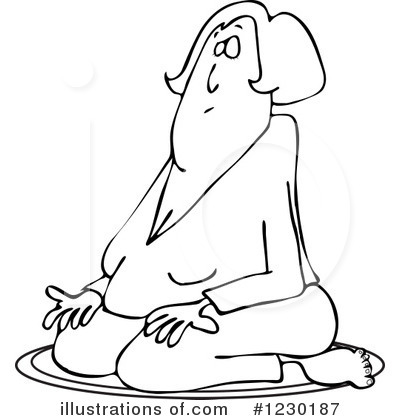 Meditating Clipart #1230187 by djart