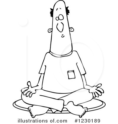 Royalty-Free (RF) Meditating Clipart Illustration by djart - Stock Sample #1230189