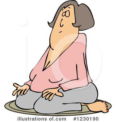 Meditating Clipart #1230190 by djart