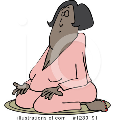 Meditating Clipart #1230191 by djart