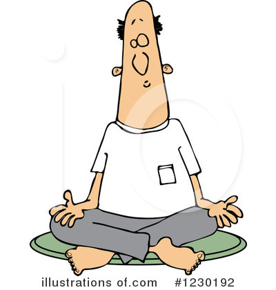 Meditating Clipart #1230192 by djart