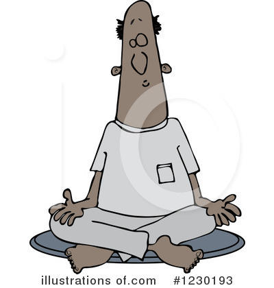 Meditating Clipart #1230193 by djart