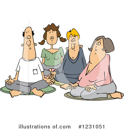 Meditating Clipart #1231051 by djart