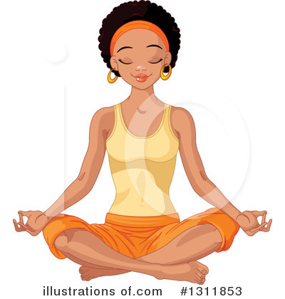 Royalty-Free (RF) Meditating Clipart Illustration by Pushkin - Stock Sample #1311853