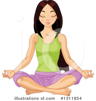 Meditating Clipart #1311854 by Pushkin