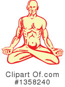Meditating Clipart #1358240 by patrimonio
