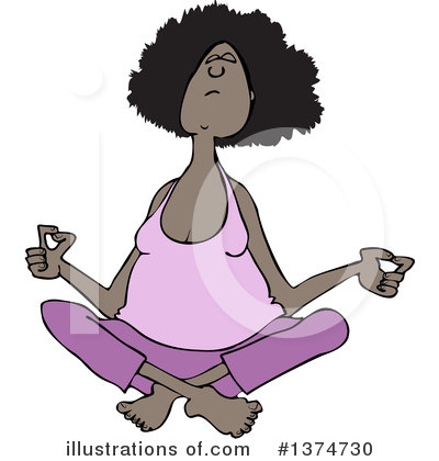 Meditating Clipart #1374730 by djart