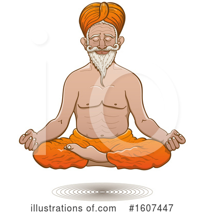 Royalty-Free (RF) Meditation Clipart Illustration by Zooco - Stock Sample #1607447