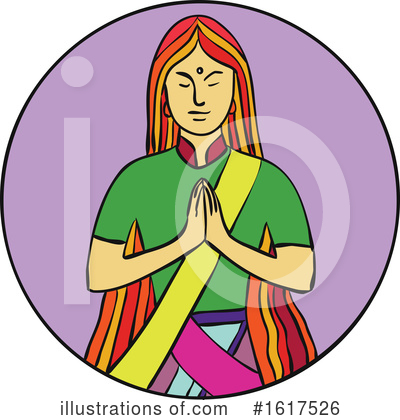 Royalty-Free (RF) Meditation Clipart Illustration by patrimonio - Stock Sample #1617526