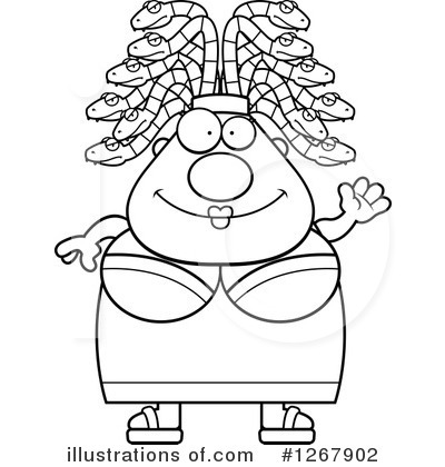 Medusa Clipart #1267902 by Cory Thoman