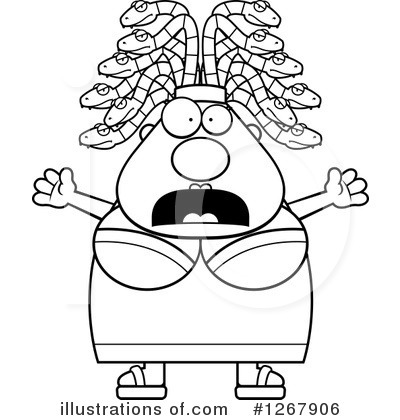 Medusa Clipart #1267906 by Cory Thoman