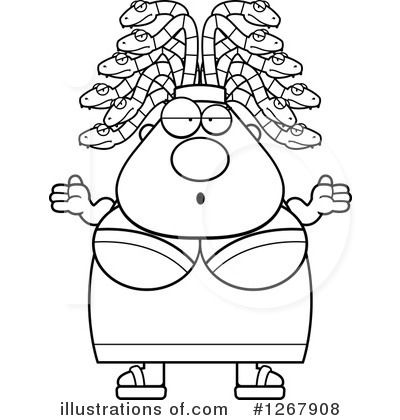 Medusa Clipart #1267908 by Cory Thoman