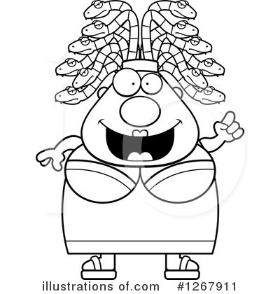 Medusa Clipart #1267911 by Cory Thoman