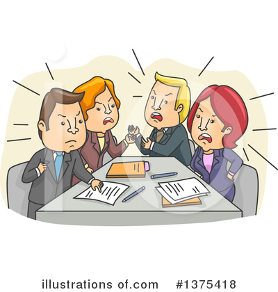 Business Team Clipart #1375418 by BNP Design Studio